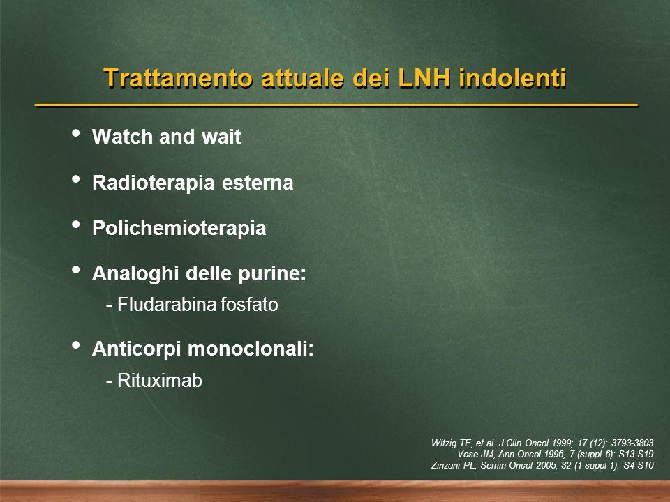 Trattamento attuale dei LNH indolenti