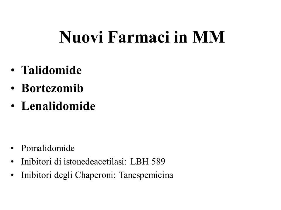 Nuovi Farmaci in MM Talidomide Bortezomib Lenalidomide Pomalidomide
