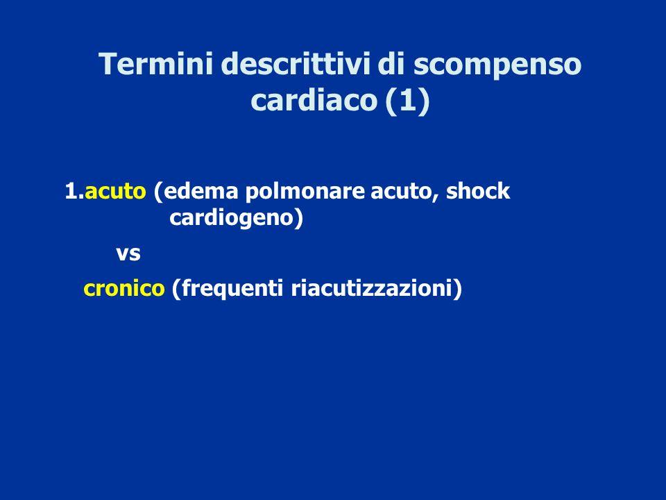 Termini descrittivi di scompenso cardiaco (1)