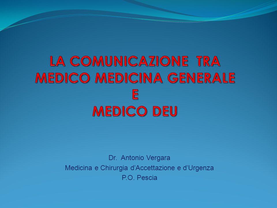 LA COMUNICAZIONE TRA MEDICO MEDICINA GENERALE E MEDICO DEU
