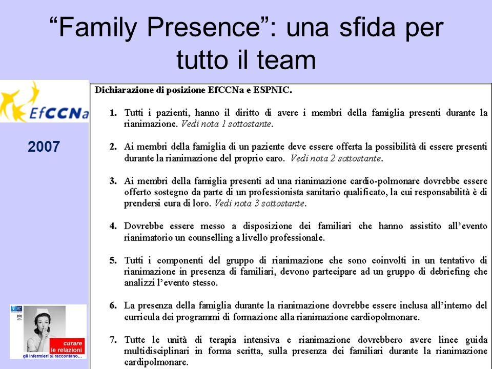 Family Presence : una sfida per tutto il team