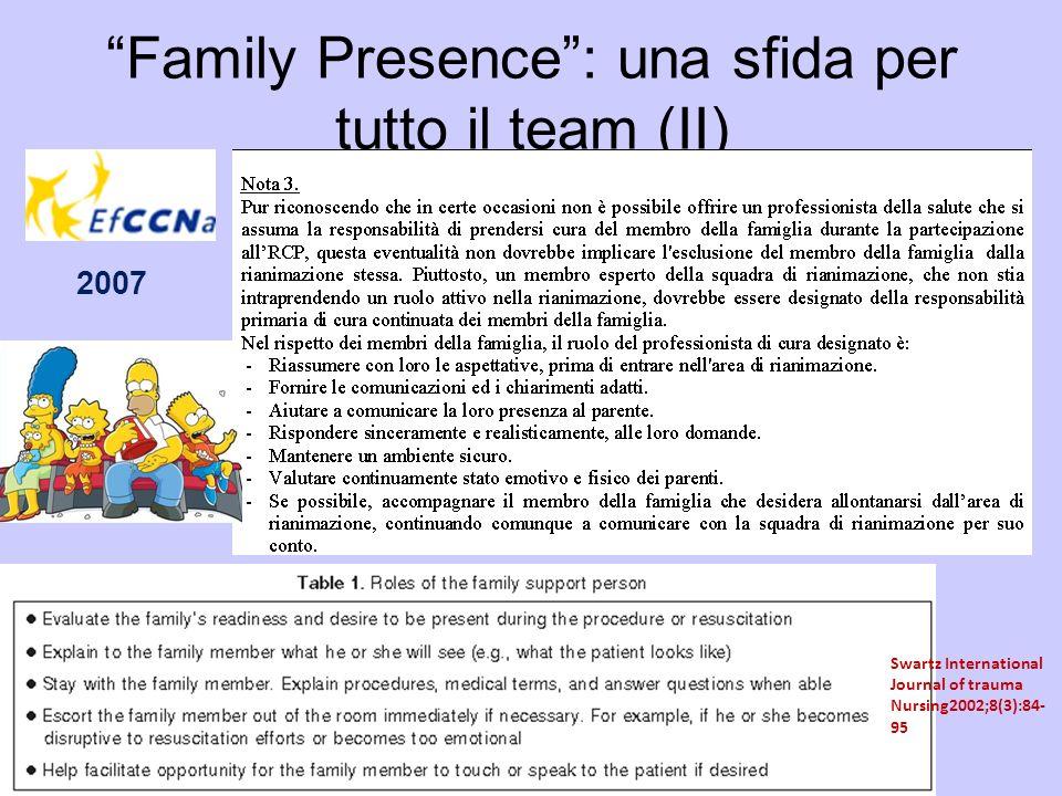 Family Presence : una sfida per tutto il team (II)