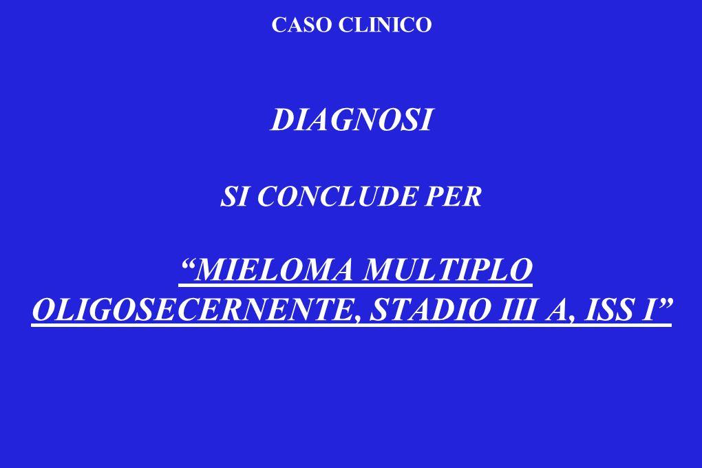 MIELOMA MULTIPLO OLIGOSECERNENTE, STADIO III A, ISS I