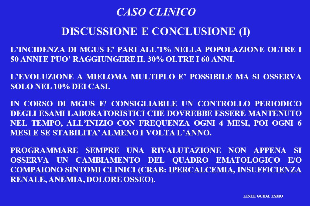 DISCUSSIONE E CONCLUSIONE (I)