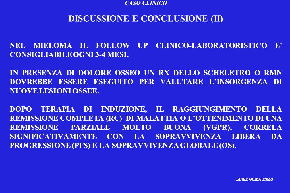 DISCUSSIONE E CONCLUSIONE (II)