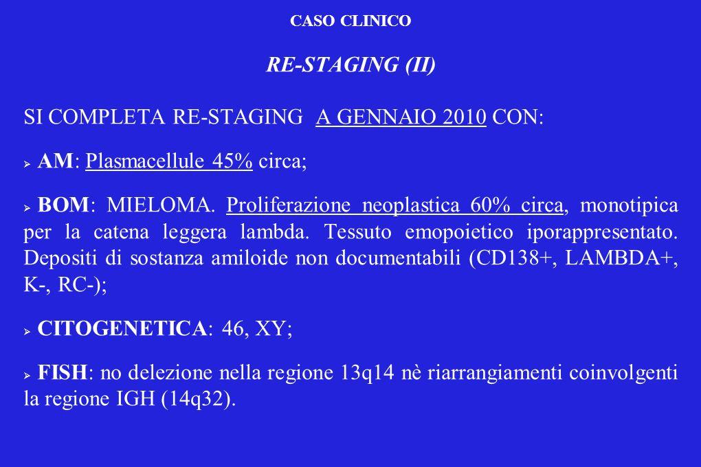 SI COMPLETA RE-STAGING A GENNAIO 2010 CON: