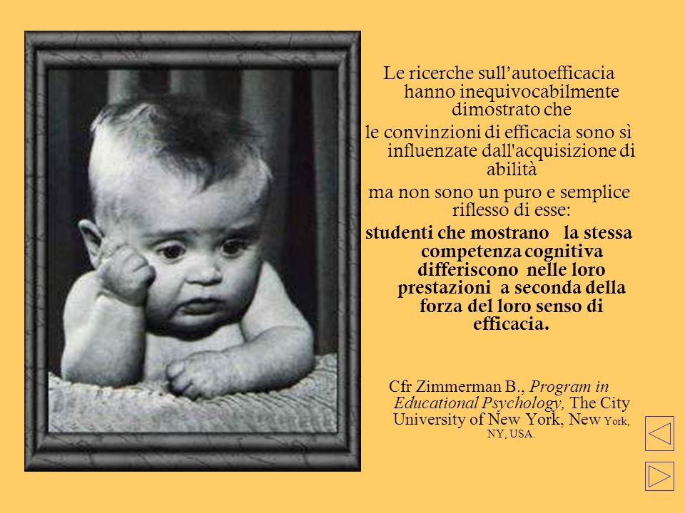 Le ricerche sull'autoefficacia hanno inequivocabilmente dimostrato che