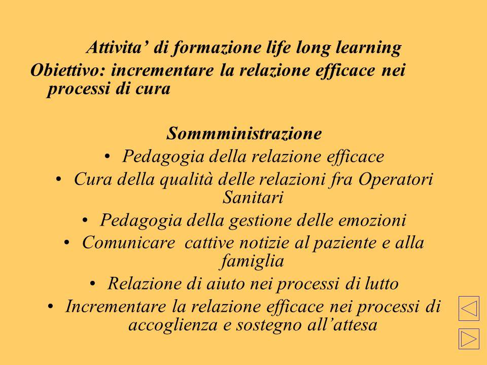 Attivita' di formazione life long learning