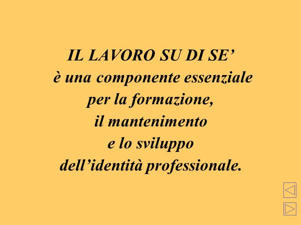 è una componente essenziale dell'identità professionale.