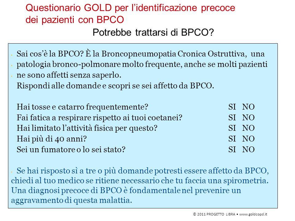 Questionario GOLD per l'identificazione precoce dei pazienti con BPCO