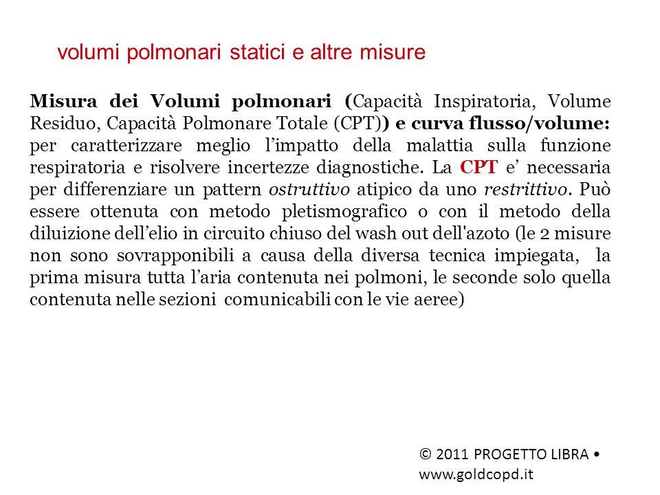 volumi polmonari statici e altre misure