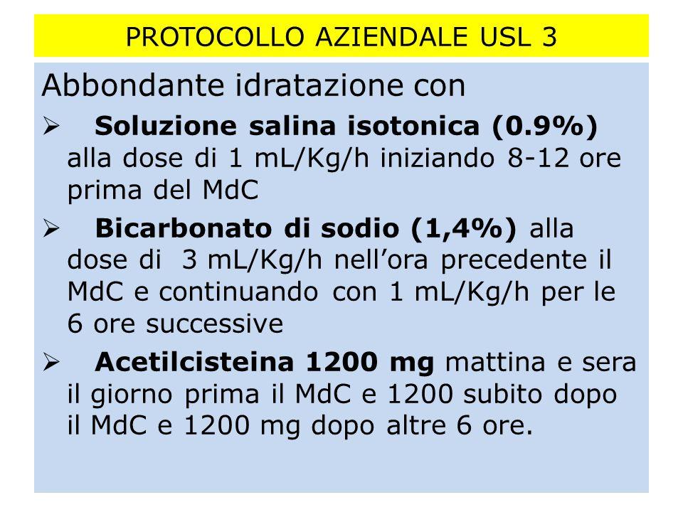 PROTOCOLLO AZIENDALE USL 3