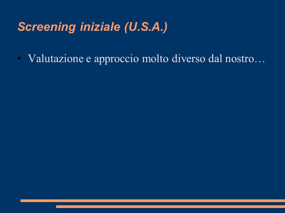 Screening iniziale (U.S.A.)