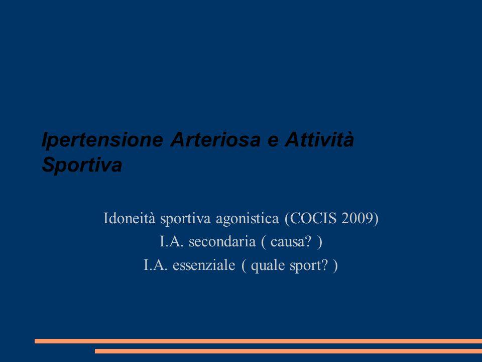 Ipertensione Arteriosa e Attività Sportiva
