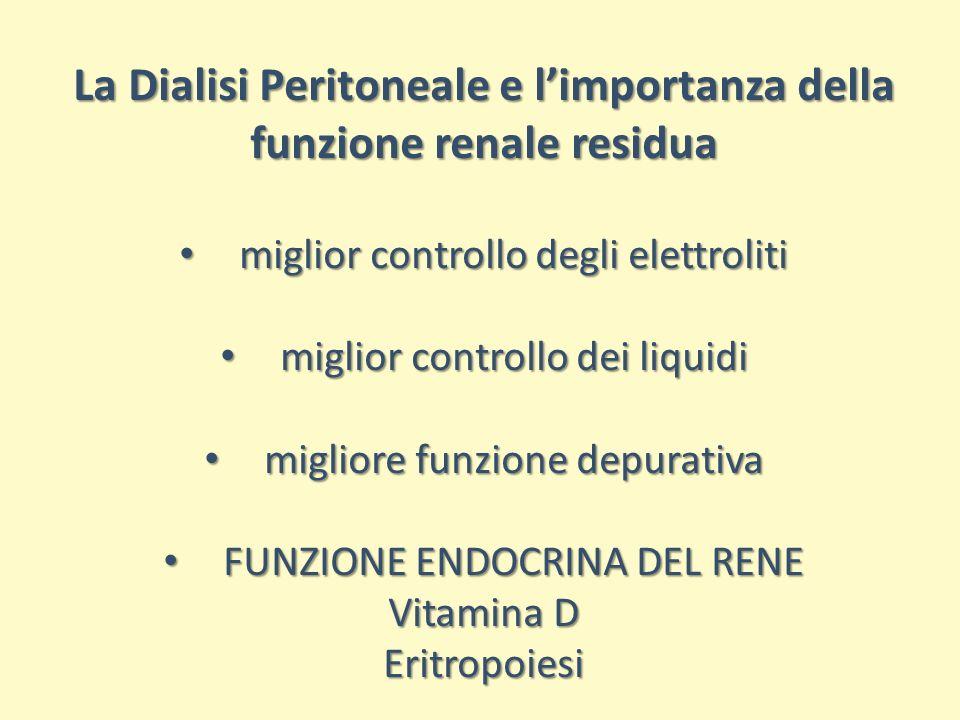 La Dialisi Peritoneale e l'importanza della funzione renale residua