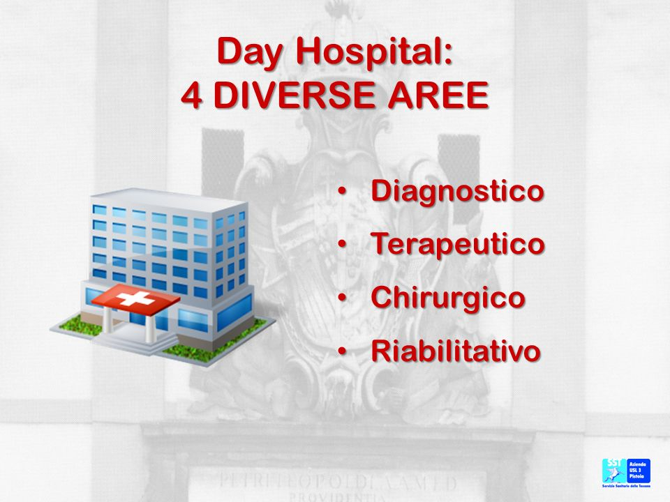 Day Hospital: 4 DIVERSE AREE