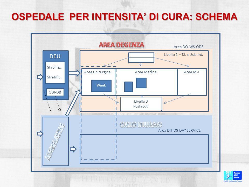 OSPEDALE PER INTENSITA' DI CURA: SCHEMA