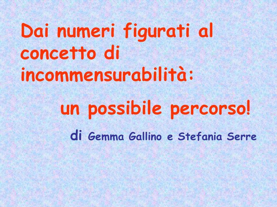 Dai numeri figurati al concetto di incommensurabilità: