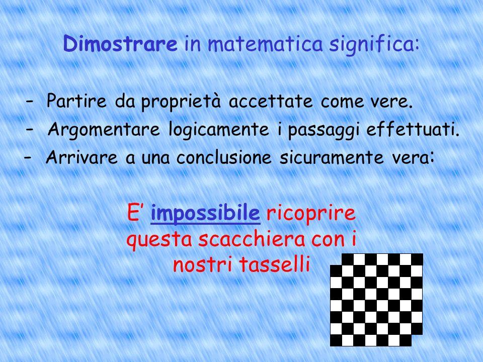 Dimostrare in matematica significa:
