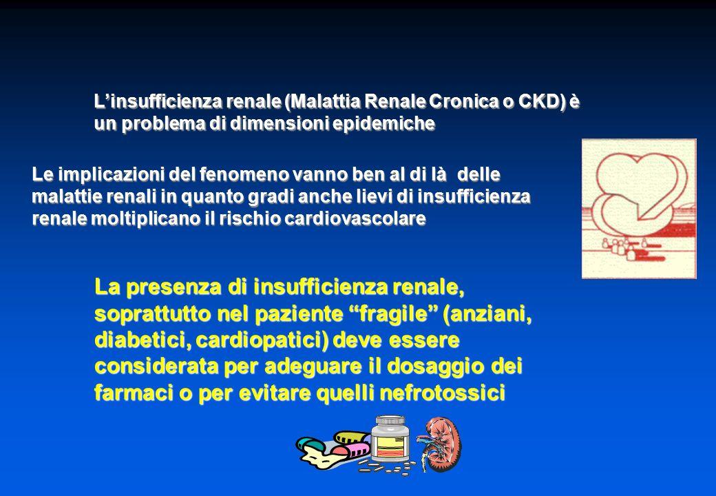 L'insufficienza renale (Malattia Renale Cronica o CKD) è un problema di dimensioni epidemiche