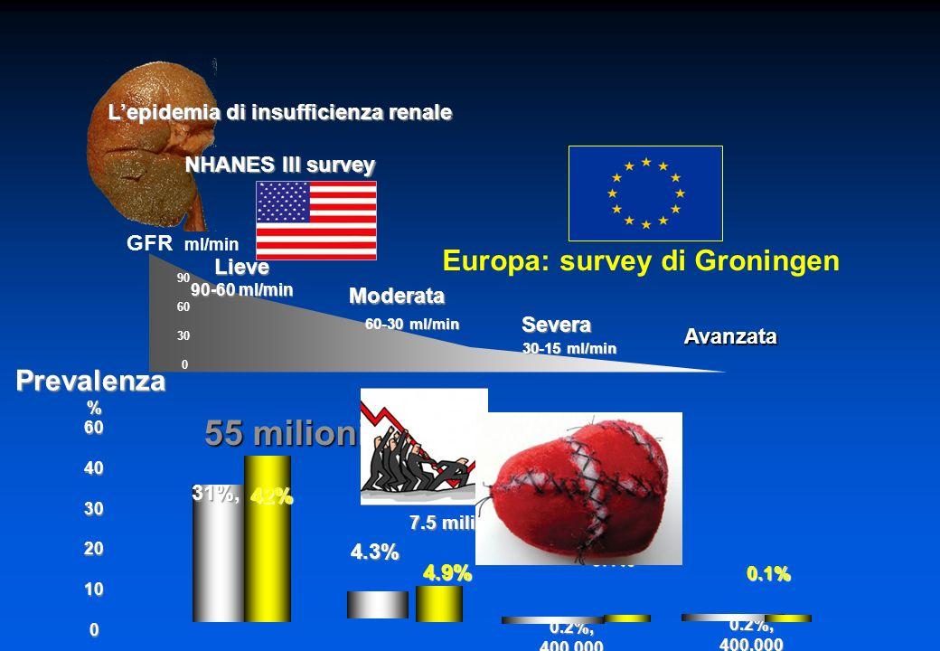 L'epidemia di insufficienza renale Europa: survey di Groningen