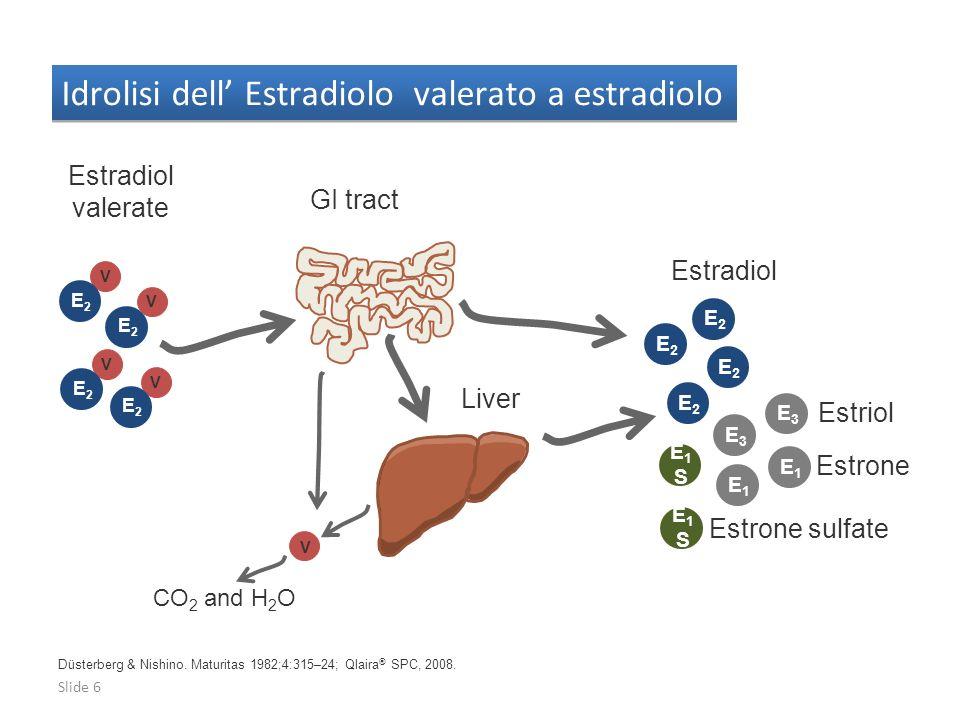 Idrolisi dell' Estradiolo valerato a estradiolo