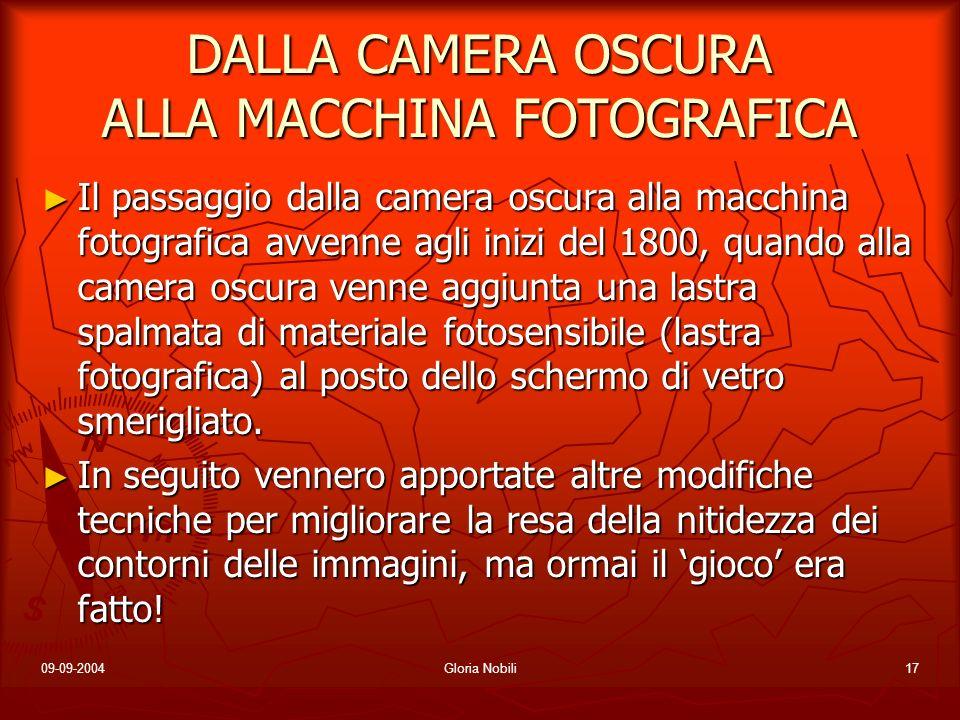 DALLA CAMERA OSCURA ALLA MACCHINA FOTOGRAFICA