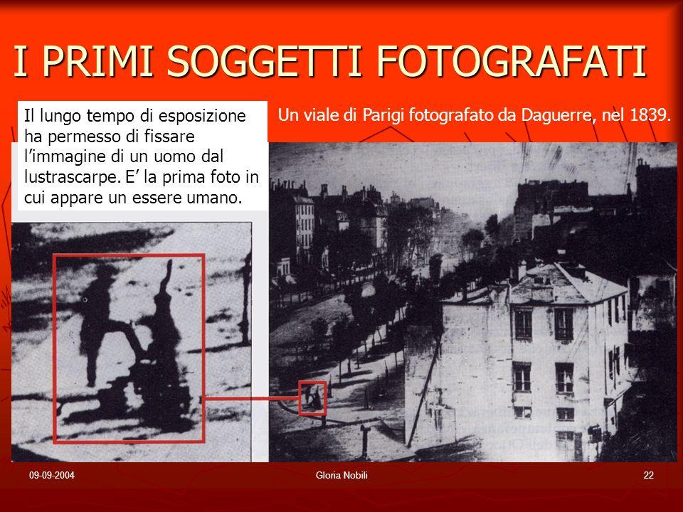 I PRIMI SOGGETTI FOTOGRAFATI