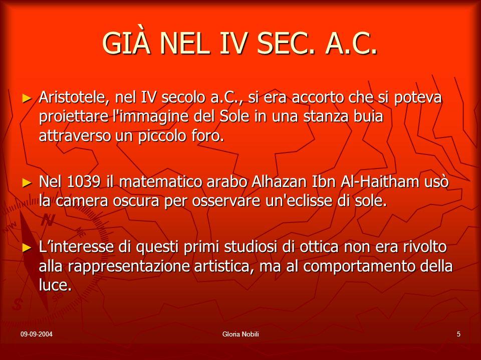 GIÀ NEL IV SEC. A.C.