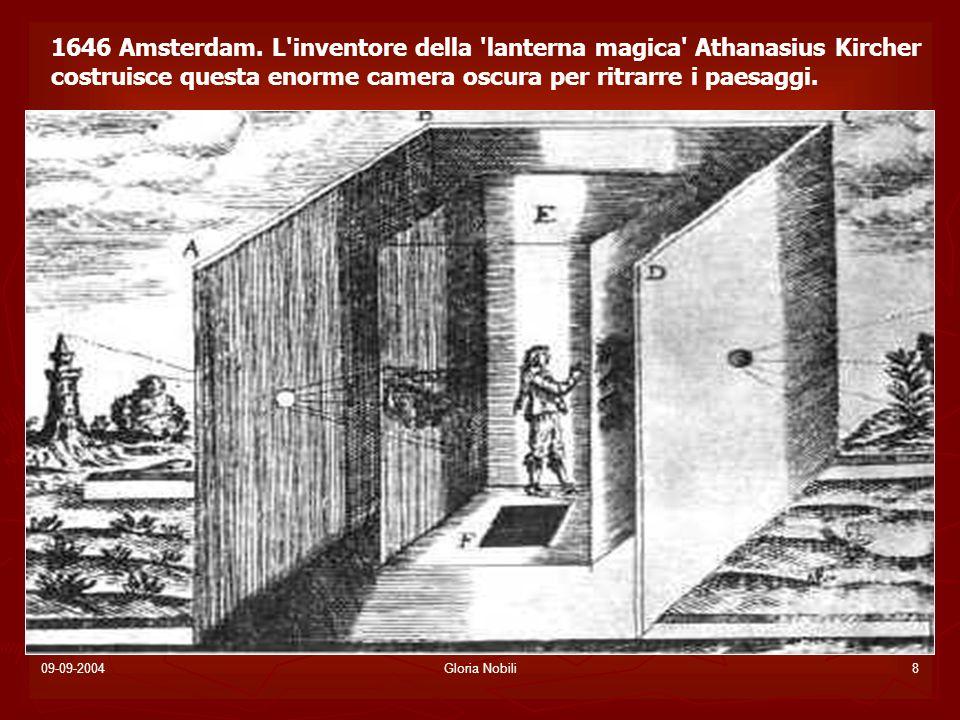 1646 Amsterdam. L inventore della lanterna magica Athanasius Kircher costruisce questa enorme camera oscura per ritrarre i paesaggi.