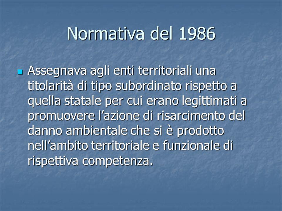 Normativa del 1986