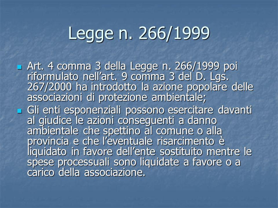 Legge n. 266/1999