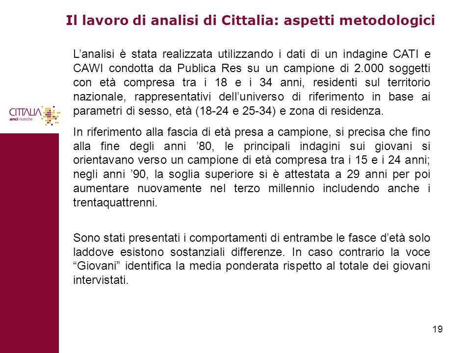 Il lavoro di analisi di Cittalia: aspetti metodologici