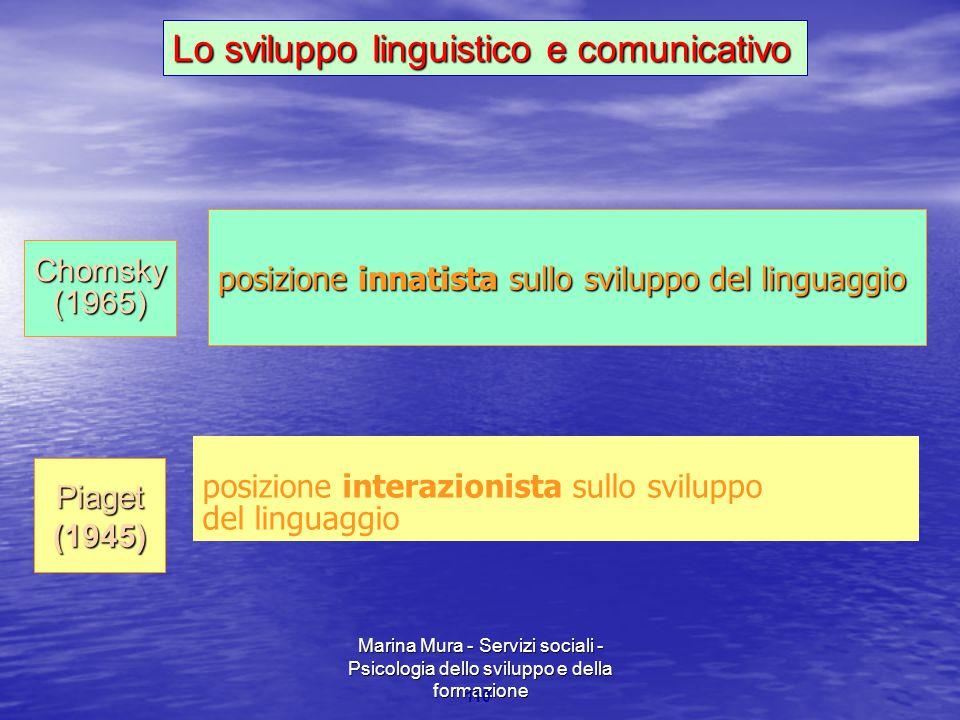 Lo sviluppo linguistico e comunicativo