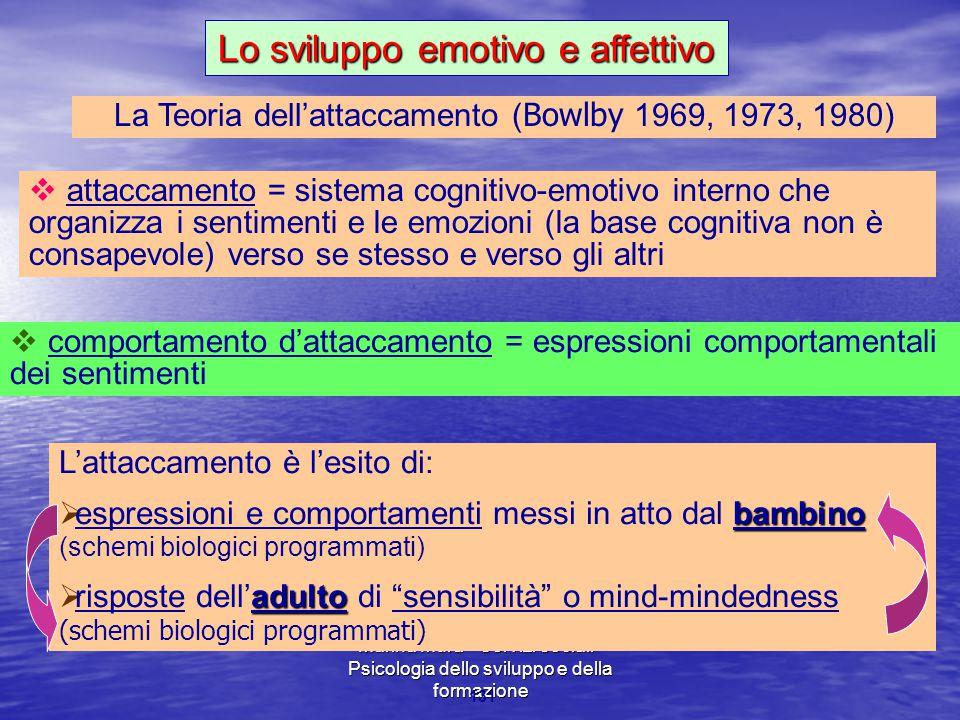 Lo sviluppo emotivo e affettivo