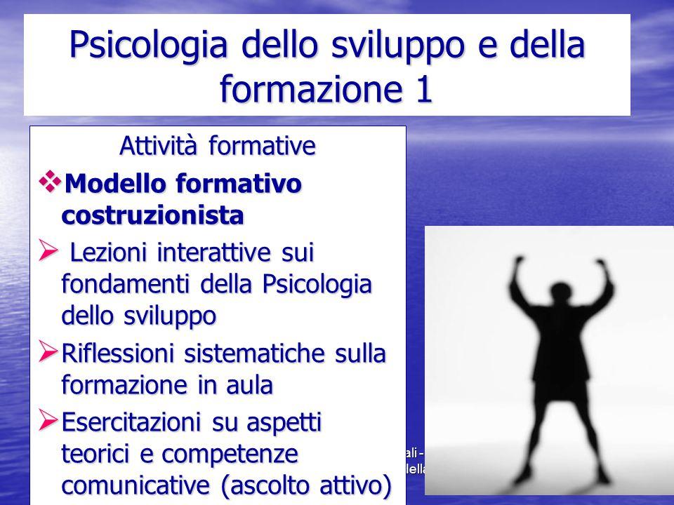 Psicologia dello sviluppo e della formazione 1