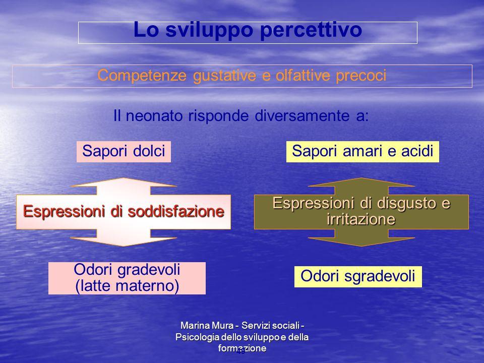 Lo sviluppo percettivo