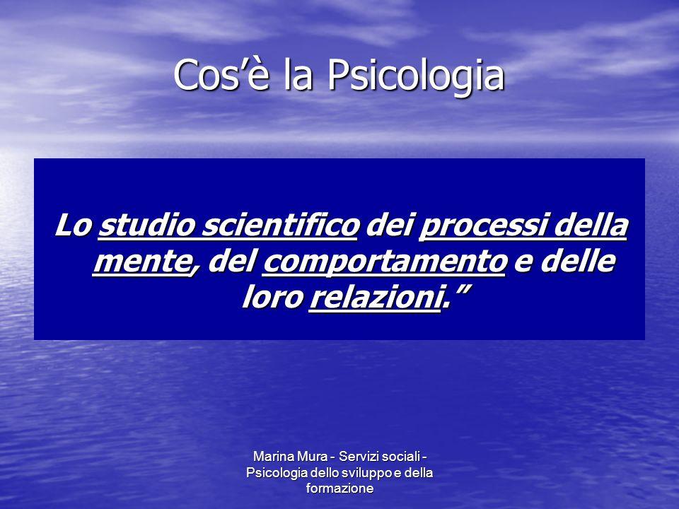 Cos'è la Psicologia Lo studio scientifico dei processi della mente, del comportamento e delle loro relazioni.