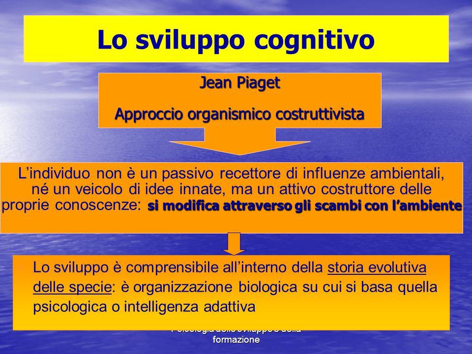 Lo sviluppo cognitivo Jean Piaget Approccio organismico costruttivista