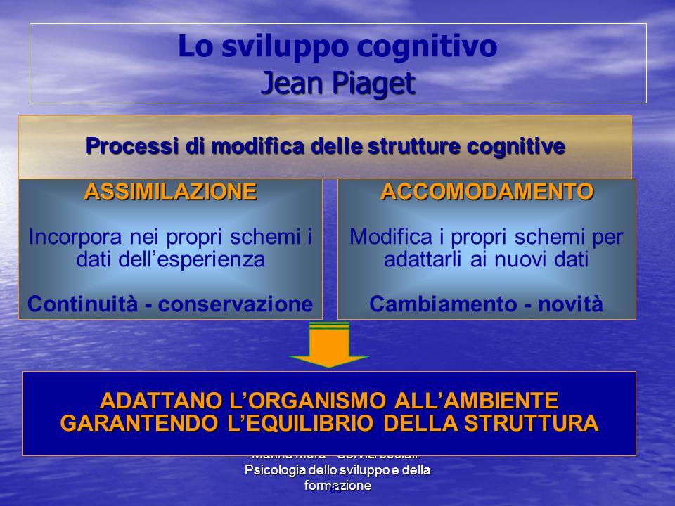 Lo sviluppo cognitivo Jean Piaget