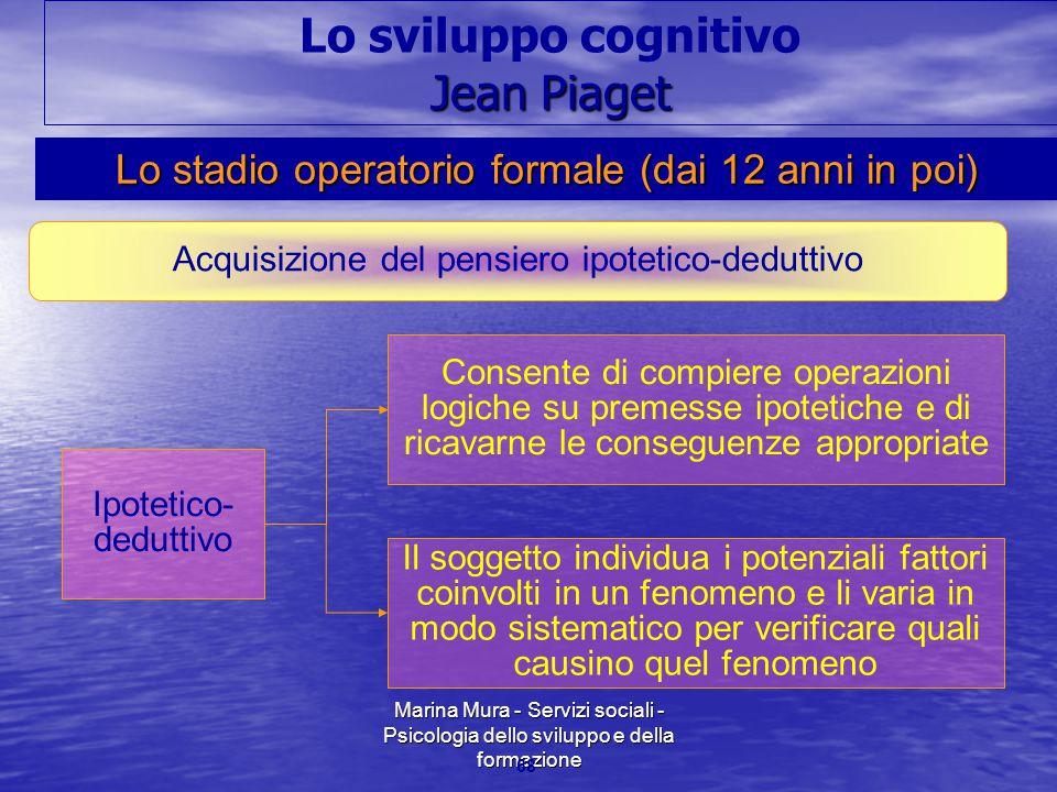 Lo stadio operatorio formale (dai 12 anni in poi)