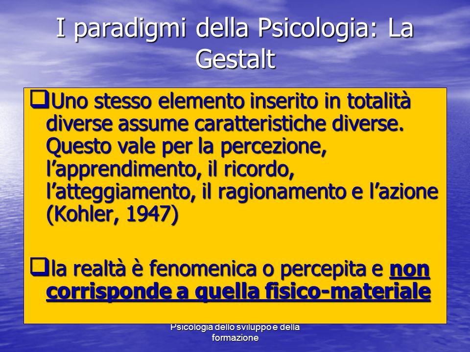 I paradigmi della Psicologia: La Gestalt