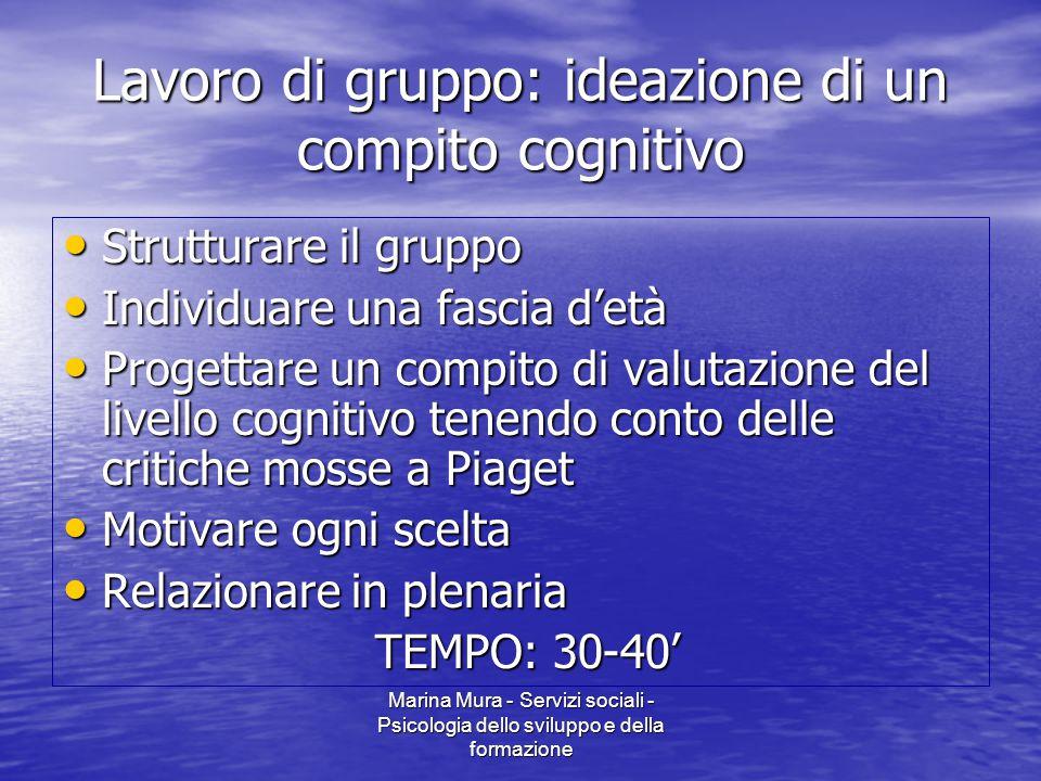 Lavoro di gruppo: ideazione di un compito cognitivo