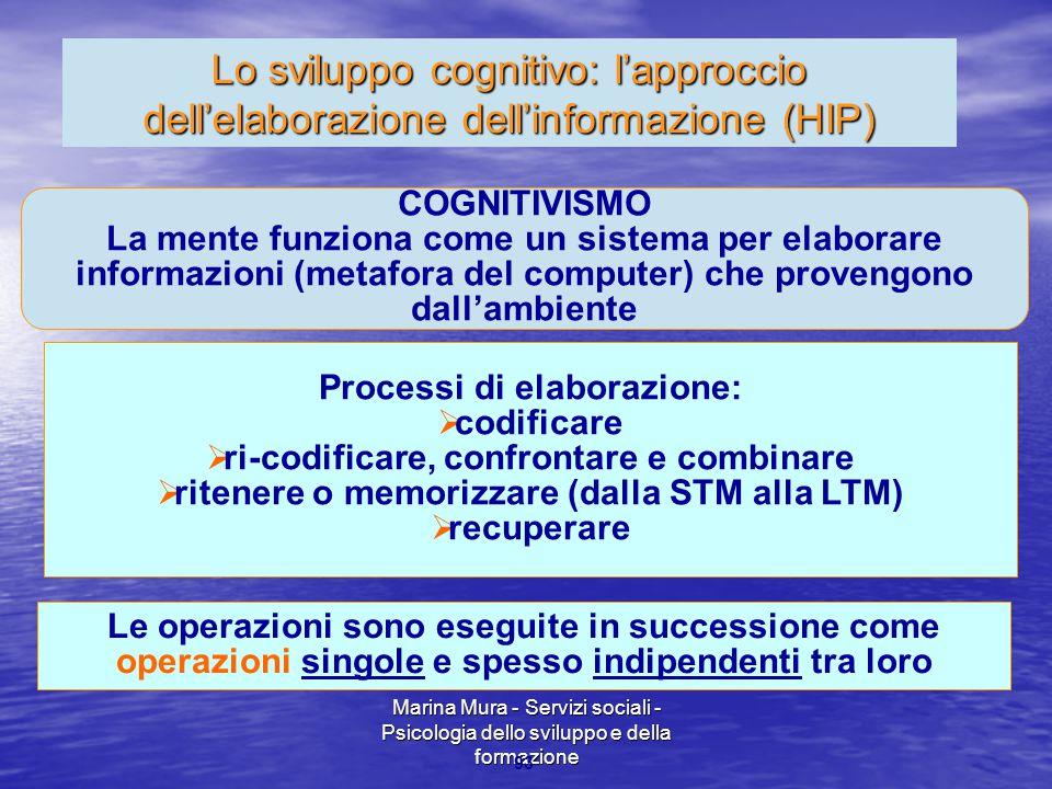 Lo sviluppo cognitivo: l'approccio dell'elaborazione dell'informazione (HIP)