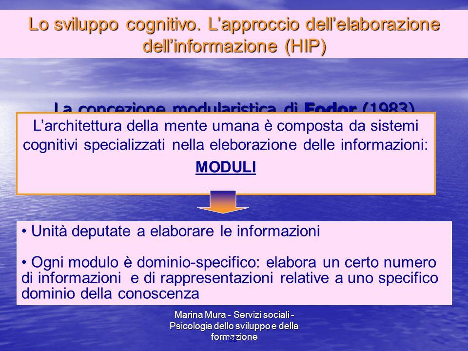 La concezione modularistica di Fodor (1983)