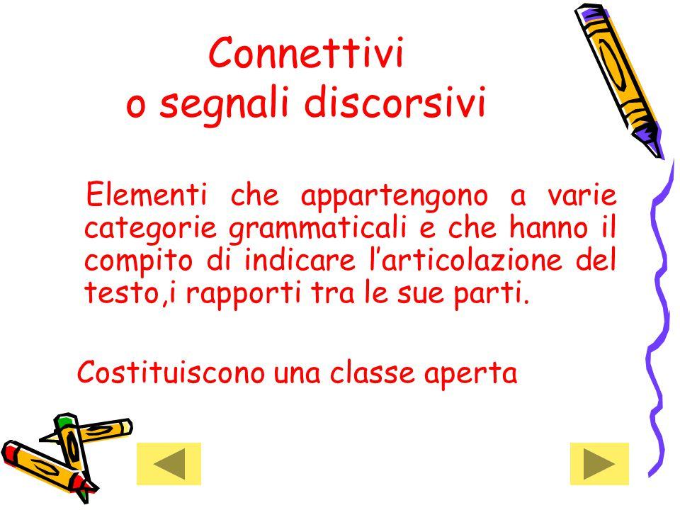 Connettivi o segnali discorsivi