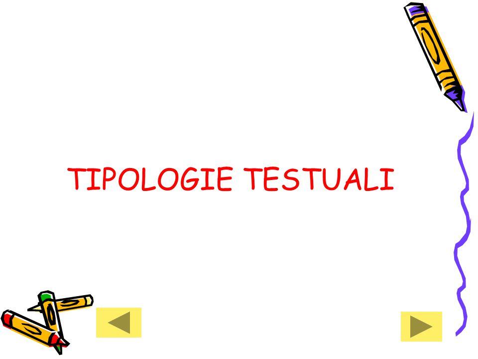 TIPOLOGIE TESTUALI