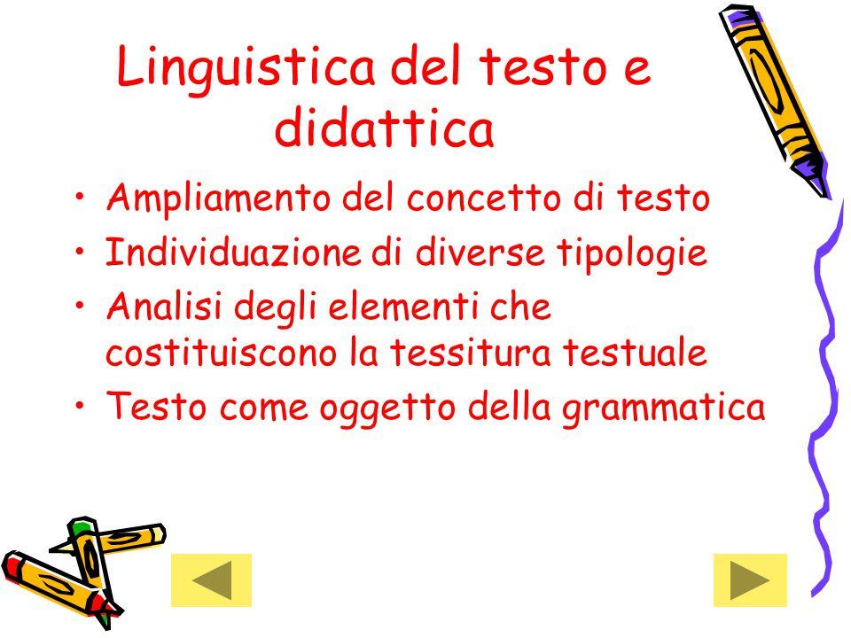 Linguistica del testo e didattica