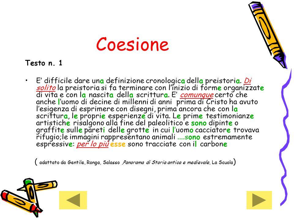 Coesione Testo n. 1.