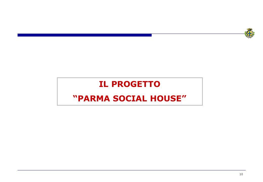 IL PROGETTO PARMA SOCIAL HOUSE